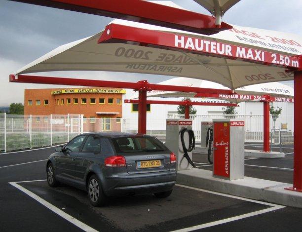 abri station de lavage automobile