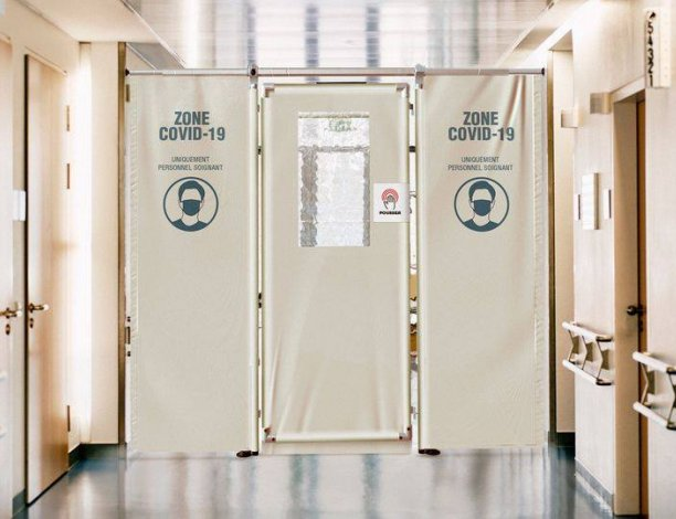 separation couloir amovible contre covid